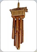 Bamboo Wind Chimes - Double House