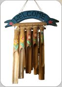 Bamboo Wind Chimes 'Welcome'